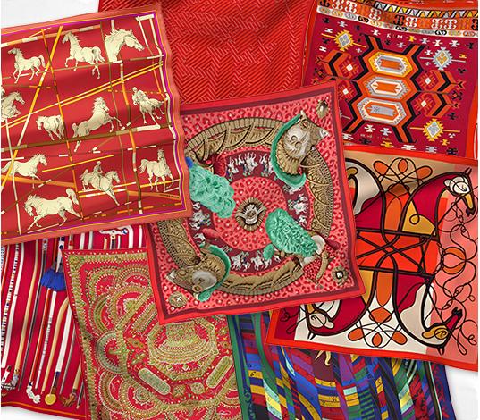 2012 Hermes Silk Twill Scarves