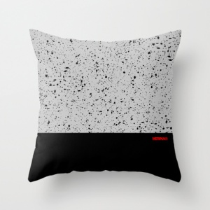 "MSTRPLN Minimal Sneaker Project Throw Pillow ""V"""
