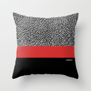 "MSTRPLN Minimal Sneaker Project Throw Pillow ""III"""